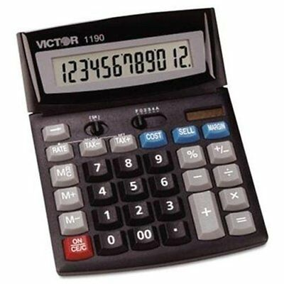 Victor 1190 Desktop Display Calculator - 12 Character[s] - Lcd - (vct1190)