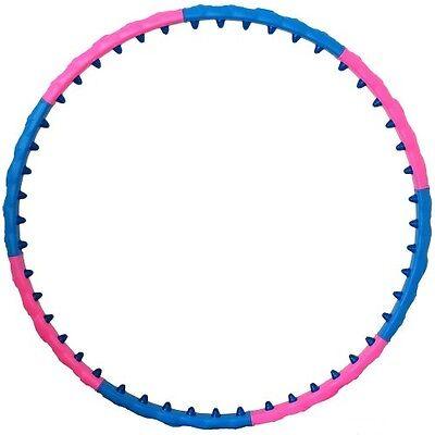 1,1 kg 100 cm Hula Hoop Reifen Taille Bauch abnehmen Massage noppen rosa blau  ()