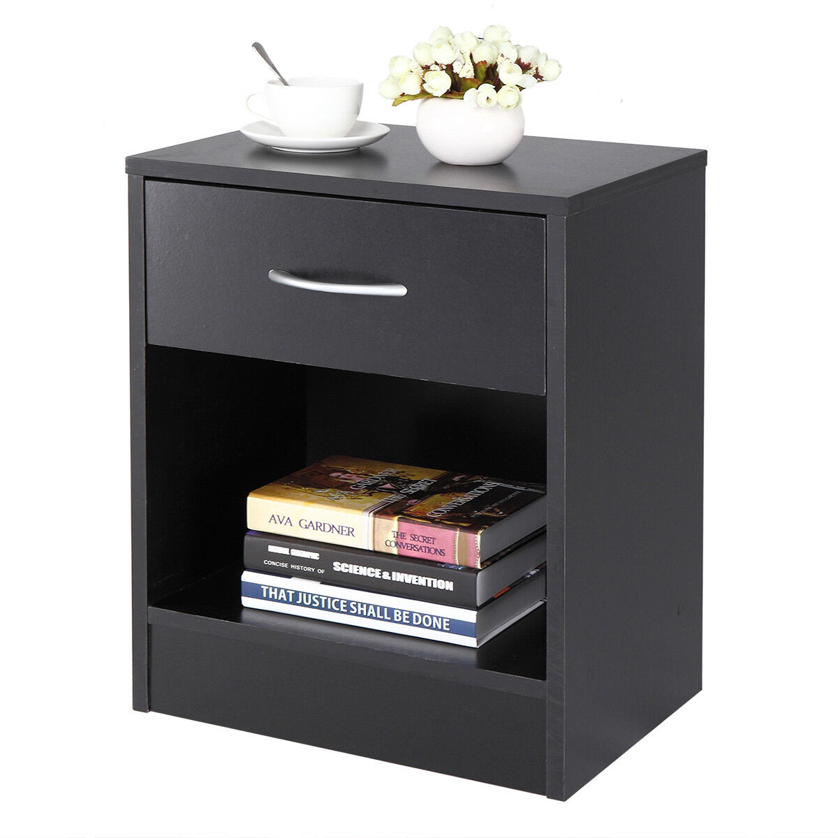 Night Stand 2 Layer Bedside End Table Organizer Bedroom Nigh