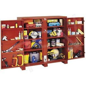 """JOBOX Heavy-Duty 60"""" Two Door Cabinet Tool Storage"""