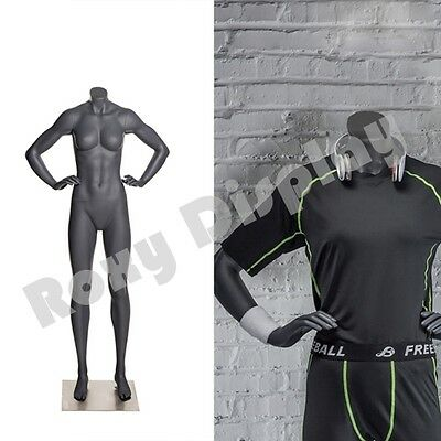 Female Fiberglass Headless Athletic Style Mannequin Dress Form Display Mz-ni-9