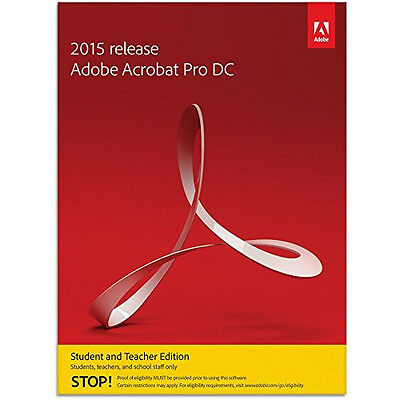Adobe Acrobat Dc Professional Student And Teacher Edition Windows   New