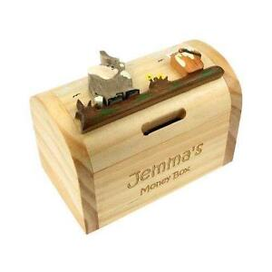 Personalised money box moneyboxes piggy banks ebay personalised wooden money box solutioingenieria Image collections