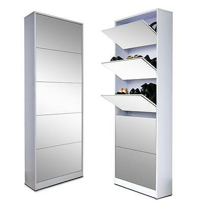 Wood Shoe Cabinet Storage Cabinet Shoe Rack with Drawer Full -
