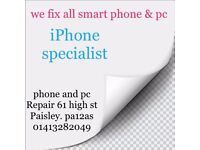 iPhone screen Repairs in Glasgow,while you wait.Damaged Smashed Broken Lcd Screen Glass Replacement.