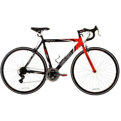 GMC Denali 700c 19 inch Men's Aluminum Frame Road Bike Black Orange Shimano Revo