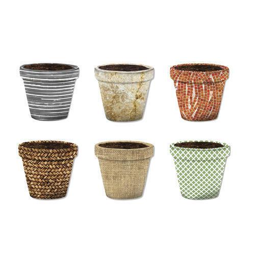 Misco Home and Garden Modern Pot Sox Flowerpot Cover, 10-Inch, Various Patterns