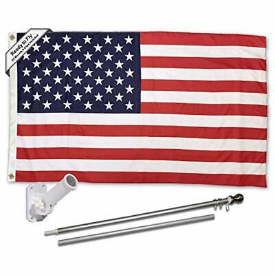 Sports Flags Pennants Company American USA Flag with Pole and Mount Kit