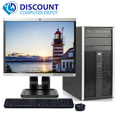 "Fast HP Pro Desktop Computer Tower Dual-Core 2.8GHz 4GB 160GB 17""LCD Win 10 Home"