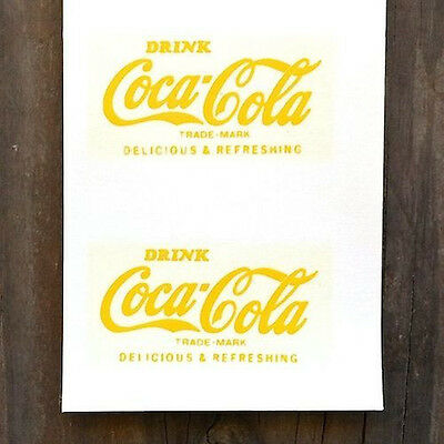 20 Original Coke COCA COLA Soda SHOT GLASS Decal Sticker COKE Unused NOS 1960s