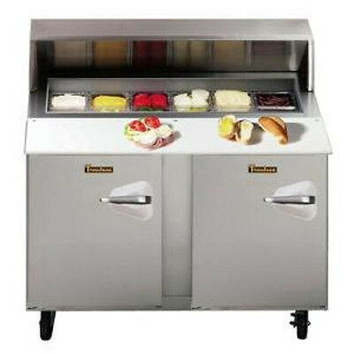 "Traulsen UPT488-LL 48"" Compact Refrigerated Counter- Hinged Left- 8 Pan Capacity"
