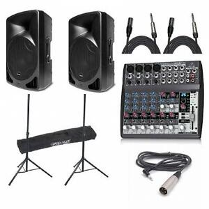 *MEGA DEAL*   (2) ALTO TX12 600W + BEHRINGER X1202FX + (2) STANDS (bag included) + (2) CABLES + IPOD CABLE