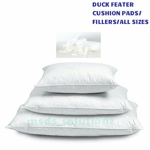 Duck-Feather & Down Cushion Pads Fillers/Inners Scatters/Inserts in All sizes