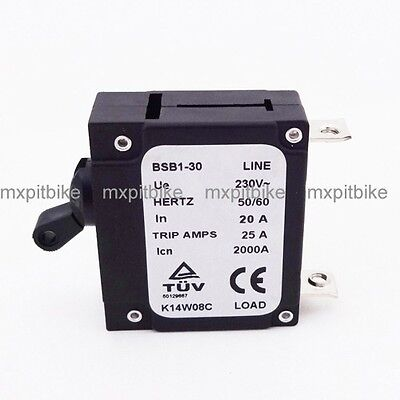 230v 20 Amp 20a Chinese Generator Circuit Breaker 25 Trip Amps Hertz 5060