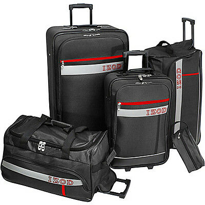 Izod Luggage Metro 5-Piece Luggage Set - Black on Rummage