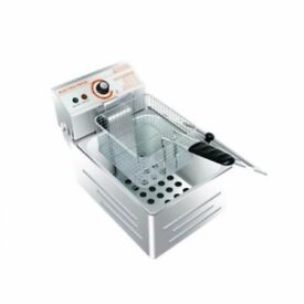Stainless Steel Commercial Single Tank Electric Deep Fat Chip Fryer Basket 5.5 L