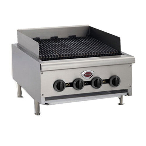 """Wells Hdcb-2430g 24"""" Wide Natural Gas Countertop Charbroiler"""