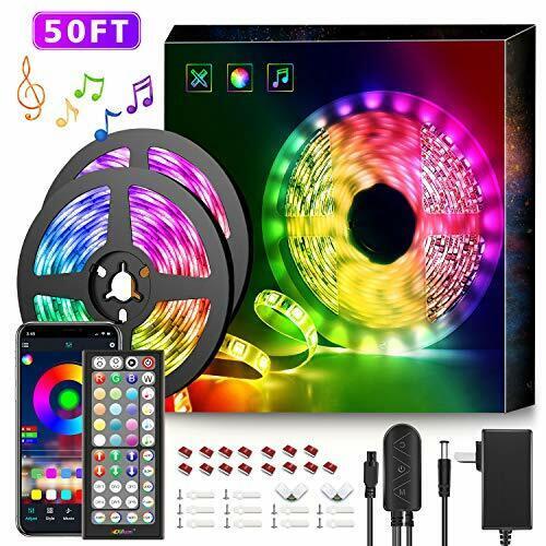 50Ft LED Strip Lights Music Sync Color Changing RGB Rgb