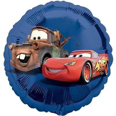 g McQueen 45cm rund Folien-Ballon für Luft / Helium (Disney Cars Luftballons)