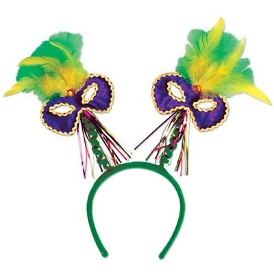 Mardi Gras Hats And Masks (Mardi Gras Mask w/Feathers Bopper Mardi Gras Hats and)