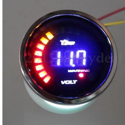 2'' 52mm Volt Voltage Gauge Car Motor LED Digital Colorful Meter Duals Electrics