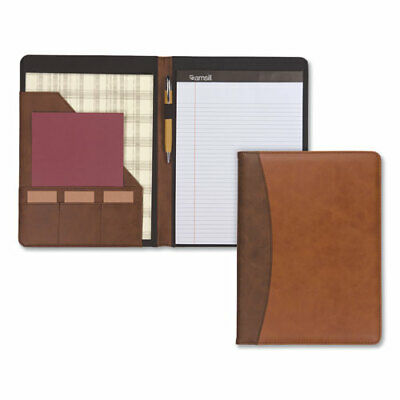 Samsill Two-Tone Padfolio With Spine Accent, 10 3/5W X 14 1/