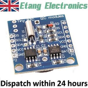 I2C Tiny RTC DS1307 Real Time Clock Module AT24C32 Board for Arduino AVR MCU PIC