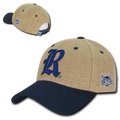 Rice University Owls Structured Jute Adjustable NCAA Baseball Ball Cap Hat (Rice Hats)