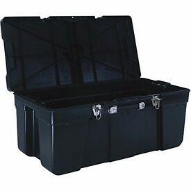 Large, Heavy Duty Black Storage Trunk/Crate for sale
