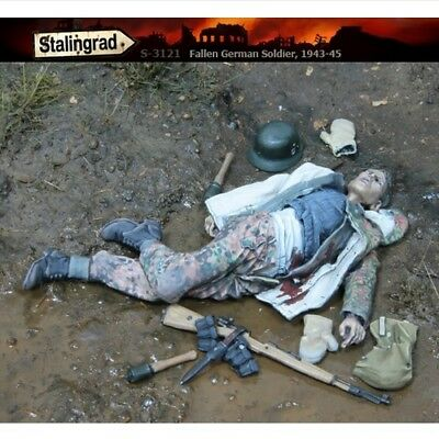 1/35 Stalingrad S-3121 Fallen German Soldiers Figure Model Resin Kit Unpainted