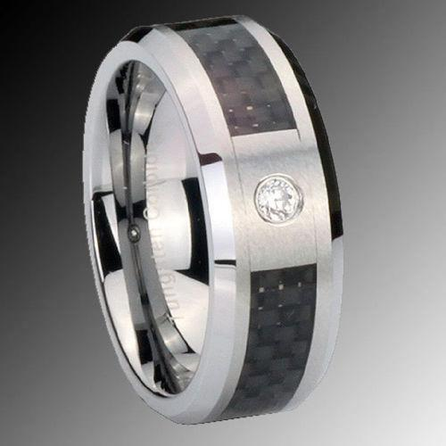 Womens Titanium Cz Ring