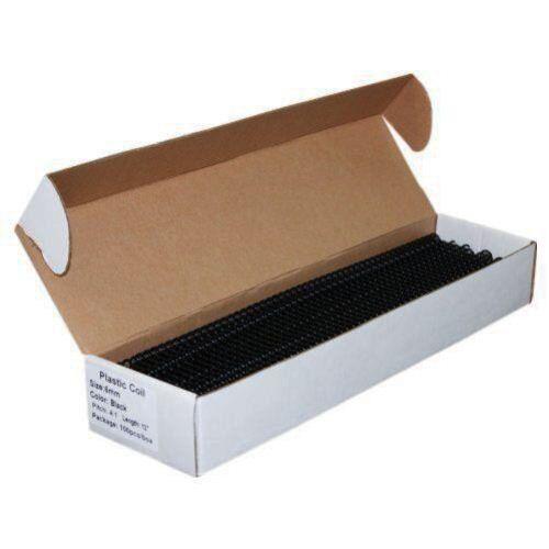 10mm Plastic Spiral Coil Binding Supplies 12 Quot 100 Pk Black