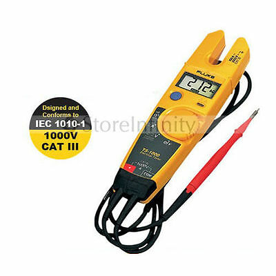 Fluke T5-1000 1000 Voltage Current Electrical Tester Clamp Meter Free Shipping