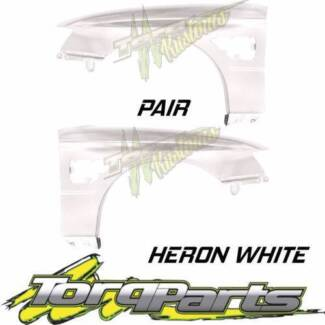 PAIR HERON WHITE GUARDS SUIT VZ SS HOLDEN COMMODORE & HSV FENDER