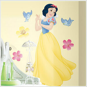 Disney princess snow white wall stickers mural decals 40 for Disney princess mural stickers
