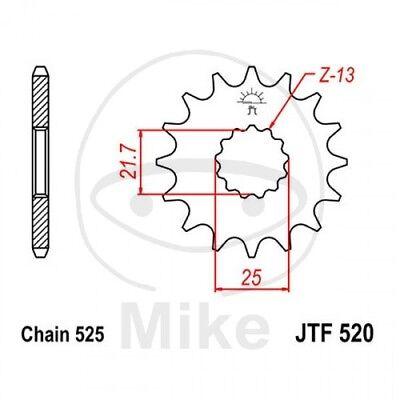 JT MOTORRAD RITZEL 16 Z HNE TEILUNG 525 JTF520 16