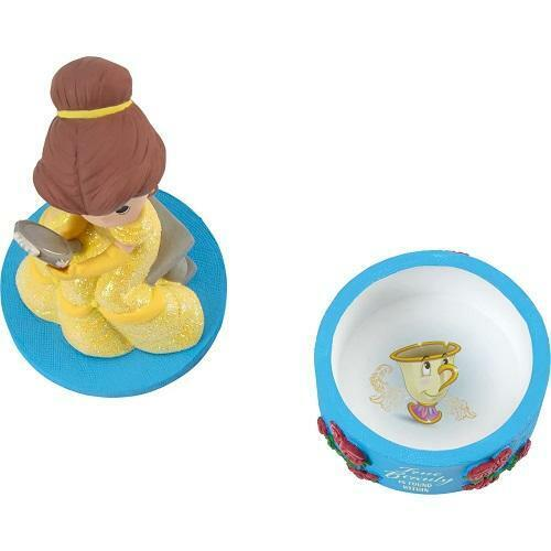 """Precious Moments Disney Belle Beauty and the Beast """"True Beauty""""Jewelry Box"""