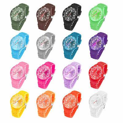 Silikon Armbanduhr Herren Big Trend Gummi Watch Damen Uhr Bunte Mini Kinderuhr