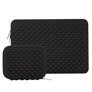 Shock Resistant Cover Sleeve MacBook Pro / AirNotebook with Small Case Black