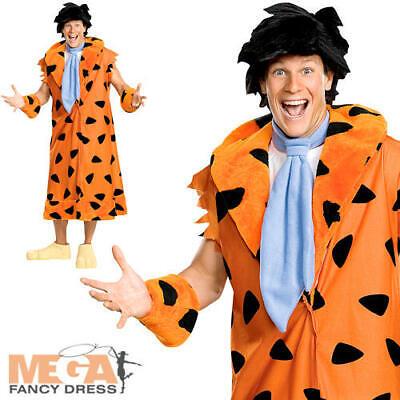 Fred Flintstone Fancy Dress Mens Cartoon Character The Flintstones Adult (Adult Kostüm Fred)