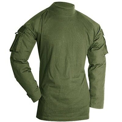 Voodoo Tactical Combat Shirt 100% Polyester Fleece Long Sleeve Size 2XL OD Green