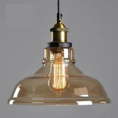 Modern Vintage Pendant Ceiling Light Fittings Industrial Loft Glass Lamp Shade