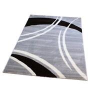 Designer Teppich Grau