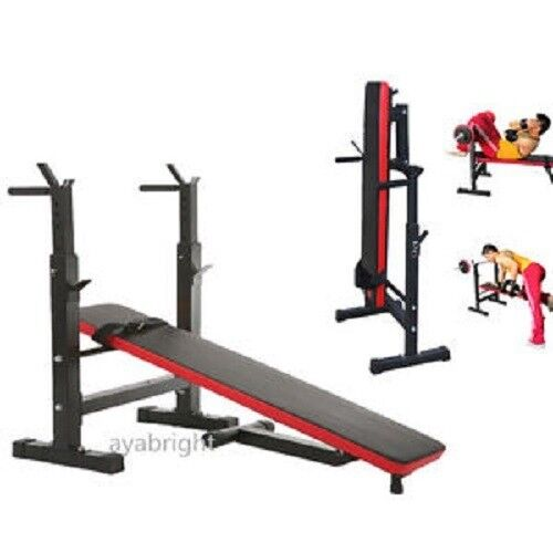 50kg york weights and foldable bench set