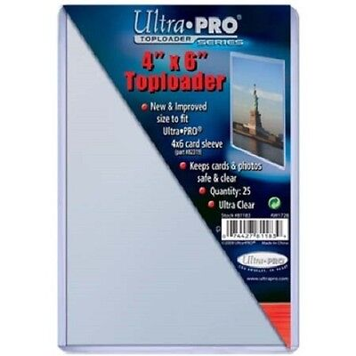 50 Ultra Pro 4x6 Postcard Photo Hard Rigid Ultra Clear Toploader 4 x 6 Top Load