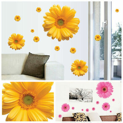 Home Decoration - Waterproof Wall Stickers Decal Art PVC Daisy Flower Home Living Room Decoration