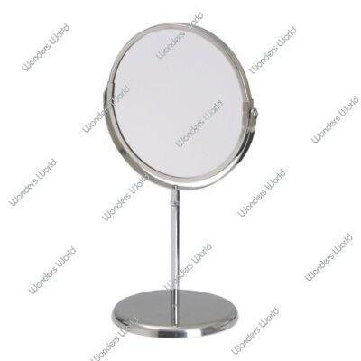 Freistehende Badezimmer-spiegel (Freistehend Spiegel Vergrößernder Badezimmer Kosmetik Rasieren Make-Up Rund)