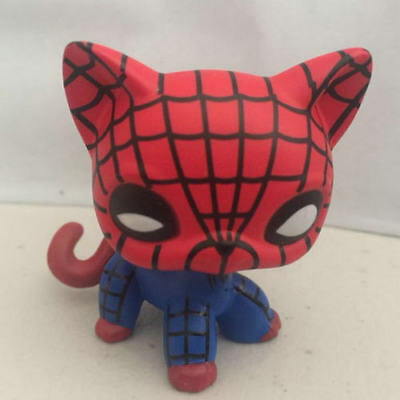 Custom OOAK LPS The Spiderman cat color LITTLEST PET SHOP - Spiderman Customes