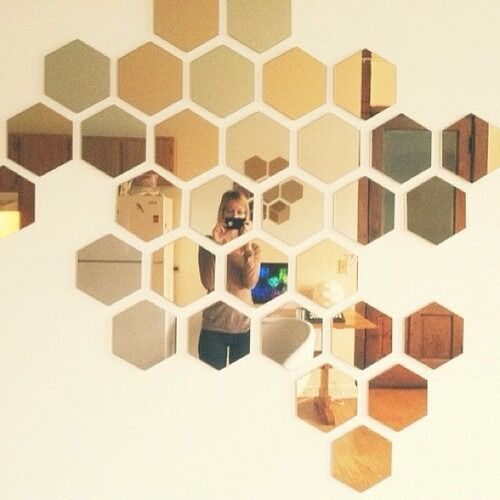 two boxes of ikea honefoss honeycomb hexagonal mirrors in east london london gumtree. Black Bedroom Furniture Sets. Home Design Ideas