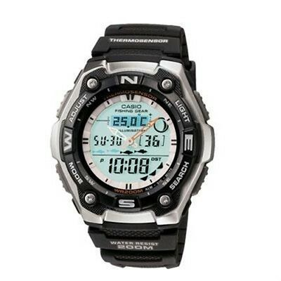 Casio Aqw101 1Av Fishing Timer Ana Digital